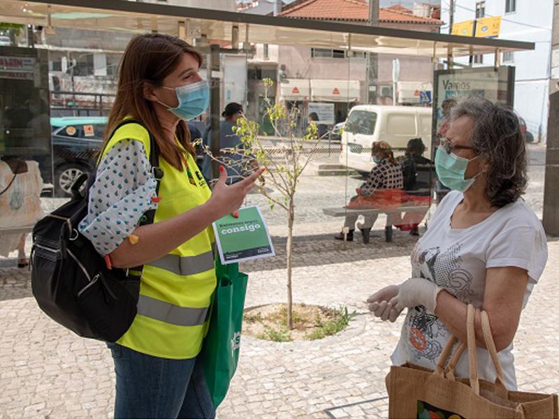 Câmara de Loures continua com ações de sensibilização de rua sobre a COVID-19