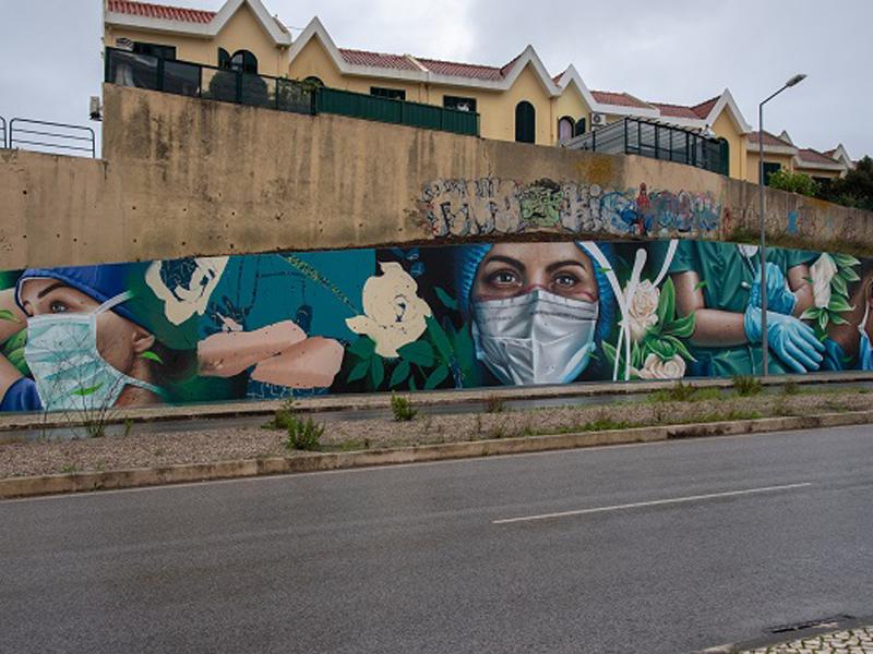 Câmara inaugura mural em homenagem aos profissionais de saúde